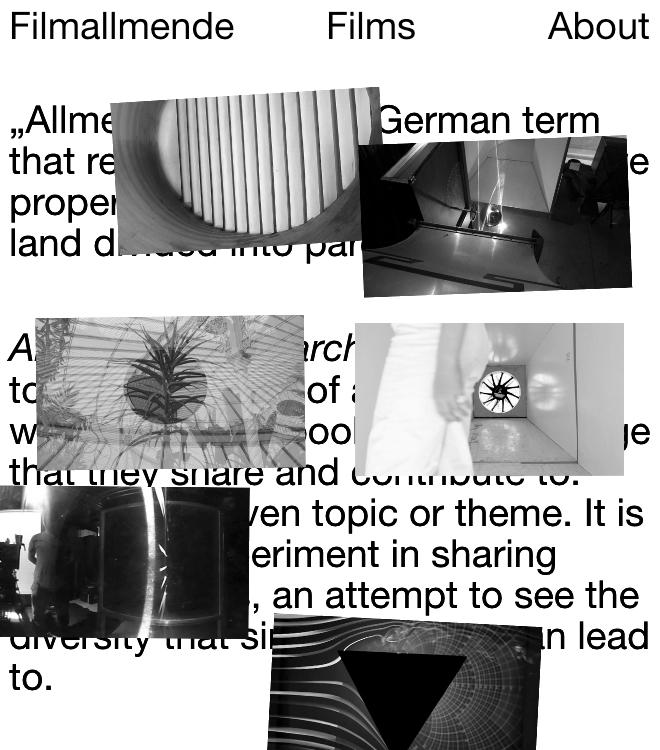 Allmende of Research Films
