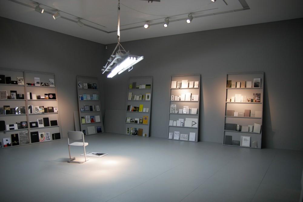 Exhibition view, NO-ISBN-Das Museum als Unternehmen Bernhard Cella/ Salon für Kunstbuch, Museum of Contemporary Art Leipzig, Germany, 2010
