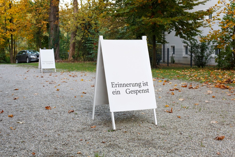 Memory is a ghost, public space around Kunstverein Salzburg, Austria, 2020