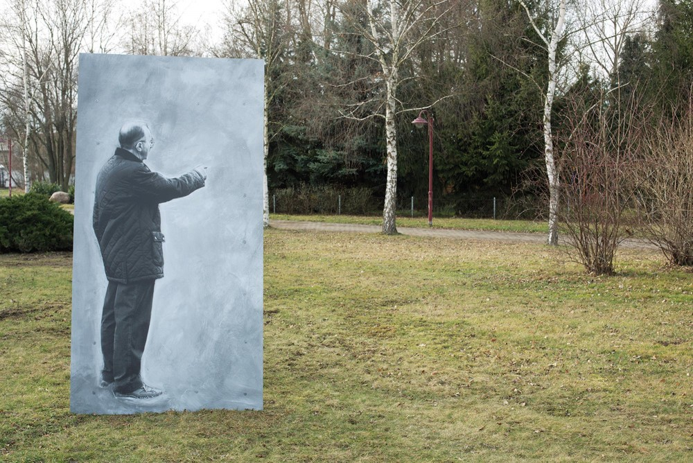 View in public space, re-ENVISIONING, Flössberg / Beucha, Germany, 2014