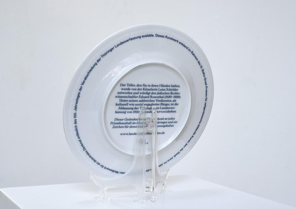 Exhibition view, Memorial plate - back, Botho-Graef-Kunstpreis 2018, Kunstverein Jena, Germany, 2018
